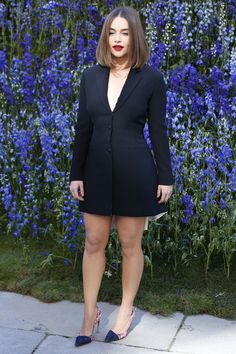 Emilia Clarke Attends The Dior Fashion Show in Paris
