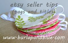 etsy seller tips {tags and titles} - burlap and blue