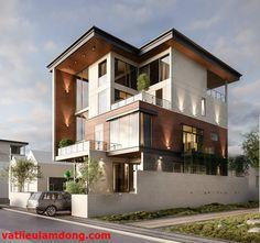 Modern Exterior House Designs, Modern House Plans, Exterior Design, Facade Architecture, Beautiful Architecture, Residential Architecture, Modern Tropical House, Tropical Houses, Building Facade
