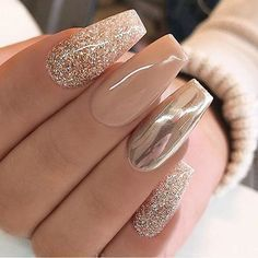 Acrylic Nail Designs 693343305118100402 - Acrylic Nails Cool 49 Best Ideas About Ombre Nails Art Design. More at Nageldesign Source by huntingtonlionel Gorgeous Nails, Pretty Nails, Amazing Nails, Nice Nails, Beautiful Nail Art, Beautiful Life, Crome Nails, Cute Acrylic Nails, Gold Glitter Nails