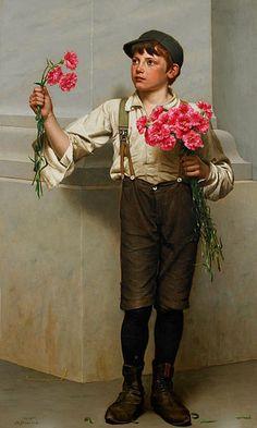 Three For Five ~John George Brown 1831-1913 ~ English-Born American Painter