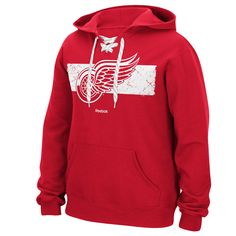 e37401a9708 Detroit Red Wings NHL Jersey Hoodie - Detroit Game Gear has GREAT PRICES    SUPER FAST