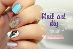 Uñas elegantes, ideal para fiestas - Nail art DIY - http://xn--decorandouas-jhb.com/unas-elegantes-ideal-para-fiestas-nail-art-diy/