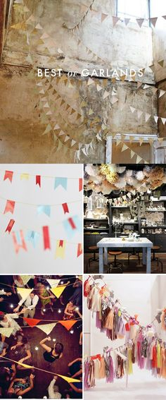 Garlands! | Brooklyn Bride - Garlands add a lovely touch of color and whimsy to any celebration.