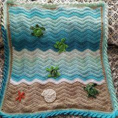 Ravelry: lydoshygirl's Sea turtle ripple blanket