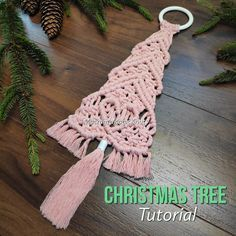 In today's video, You'll see how to make Macrame Christmas Tree Decoration. Christmas tree DIY project is a great way to bond with your family or to make it . Diy Christmas Ornaments, Christmas Decorations, Tree Decorations, Handmade Ornaments, Bohemian Crafts, Macrame Wall Hanging Diy, Ornament Tutorial, Macrame Projects, Macrame Tutorial