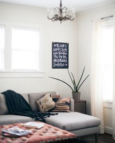 cozy neutral living room (art print by pennyweight goods)