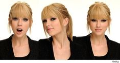 Oh, T-Swift...I definitely did not look this sassy and adorable when I had straight-across bangs.