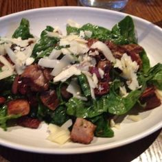 The incredible spinach salad @mindysegal hot chocolate. #foodie