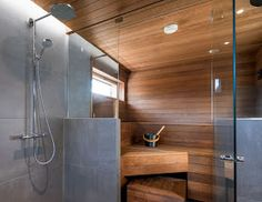 People have been enjoying the benefits of saunas for centuries. Spending just a short while relaxing in a sauna can help you destress, invigorate your skin Home Spa Room, Spa Rooms, Sauna Steam Room, Sauna Room, Saunas, Bathroom Interior, Modern Bathroom, Interior Garden, Bathroom Ideas