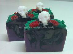 'Gothica' handmade soap Urban Village, Bath And Body, Soap, Cake, Desserts, Handmade, Tailgate Desserts, Deserts, Hand Made