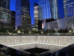 9/11 Memorial 'City Lights at Night' (1-18) by LizBallerPhotos, via Flickr