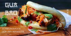 Gua Bao, die asiatische Form des Burger ist super lecker! Der saftige Schweinebauch mit dem Gemüse im Bao Bun schmeckt Hammer!