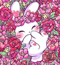 New flowers ilustrations wallpaper ideas Kawaii 365, Art Kawaii, Chibi Kawaii, Cute Animal Drawings Kawaii, Cute Kawaii Animals, Kawaii Doodles, Cute Chibi, Kawaii Cute, Cute Drawings