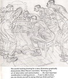 Albert Dorne - working drawing (comp)