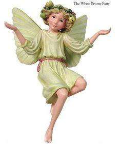 Cicely Mary Barker white Bryony Flower Garden Fairy Figurine Ornament NIB