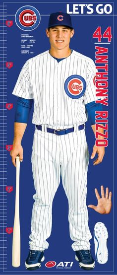 Anthony Rizzo Life-Size Fabric Growth Chart - 7/5