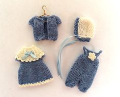Miniature hand-knitted clothes for 3.5 4 doll by AnnaToys on Etsy