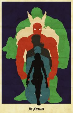 The Avengers :: Minimalist Movie Poster by Alex St-Gelais..... Shouldn't Hawkeye be after Black Widow?