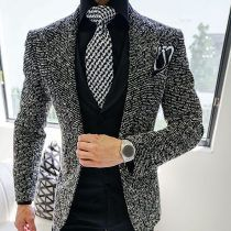 menilyshop.com Fashion Pants, Mens Fashion, Best New Cars, Knit Blazer, Costume, Tweed Jacket, Mens Suits, Sleeve Styles, Cool Outfits