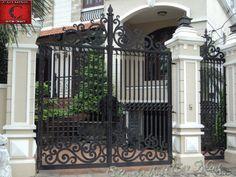 mẫu cổng rào sắt đơn giản, hiện đại