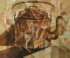 Copper Kettle. Cubo-futurism. Krotkov Vassily. 2014