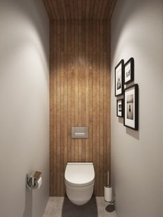 Use of natural materials for walls and roof in a tiny bathroom - Decorating small bathrooms big time
