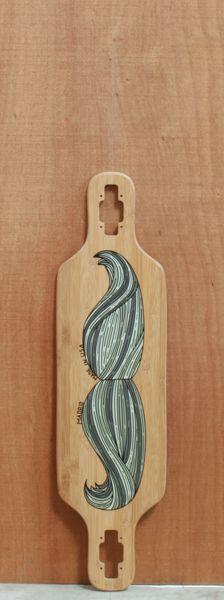 "Madrid 34"" Moustache Longboard Bamboo Deck"