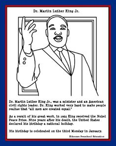 Mr Martin Luther King Coloring Pages