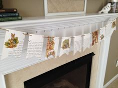 PETER RABBIT storybook banner pendant by HomeHappyHomeDecor