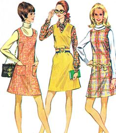 1960s Dress Pattern McCalls 2070 Pinafore Dress U by paneenjerez, $10.00