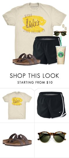 """~where you lead I will follow~"" by flroasburn on Polyvore featuring NIKE, Birkenstock and Kendra Scott"