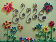 Quilled name baby gift