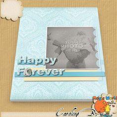 Happy Forever 11x8 Photobook for MyMemoriesSuite Happy Forever 11x8 Photobook for MyMemoriesSuite [] - $11.19 : Caroline B., My Magic World of Digital Design, wedding, album, photobook