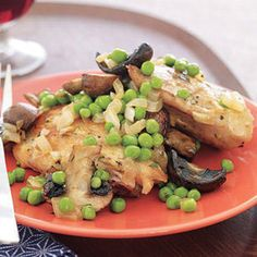 Chicken with Mushroom and Peas