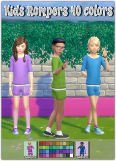 Kids Rompers at Maimouth Sims4 via Sims 4 Updates