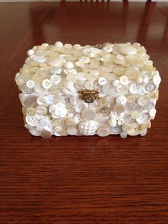 Button encrusted jewelry box by WillyWimbles on Etsy,