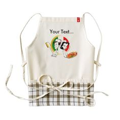Pizzaiolo and Pizza Zazzle HEART Apron