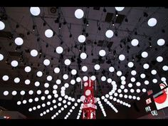 Kinetic Lights Installation with DMX winches and LED balls for Vodafone @ IFA 2013 - YouTube