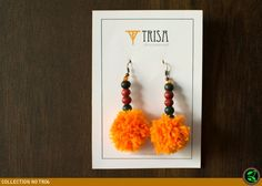 pom-pom-earring-orange