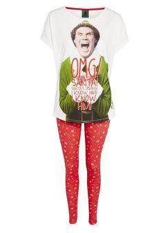 Clothing at Tesco   Elf the Movie Christmas Pyjamas > nightwear > Women's nightwear > Women