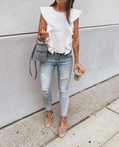 Best Casual Spring Outfit Ideas You Can Wear Mode Outfits, Fall Outfits, Casual Outfits, Classy Summer Outfits, Casual Summer Outfits For Women, Summer Fashion Outfits, Club Outfits, Summer Dresses, Moda Casual