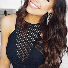 Classy Black and Gold Drop Earrings #ootd #hair - 14,90 € @happinessboutique.com