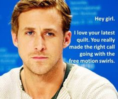 ryan gosling - sewing humor