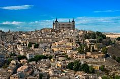 Perched on a mountaintop in central Spain, Toledo served as the Spanish capital until the century. Because it was inhabited by Jews, Christians and Muslims for many centuries, the city is sometimes called the New Travel, Spain Travel, Holiday Destinations, Travel Destinations, Madrid, Toledo Spain, Spain Holidays, Walled City, Spain And Portugal