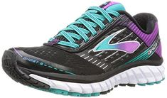 Brooks Ghost 9 Running Shoe  Womens BlackSparkling GrapeCeramic 95 *** Click on the image for additional details.
