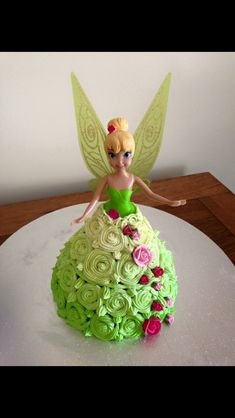 Tinkerbell doll DIY easy birthday cake                              …