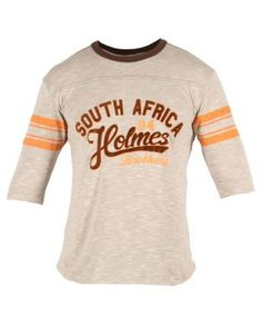 Holmes Bros Mens Three Quarter College Holmes T-Shirt Lifestyle Store, Cool Outfits, College, Fresh, Brown, Mens Tops, T Shirt, Clothes, Fashion