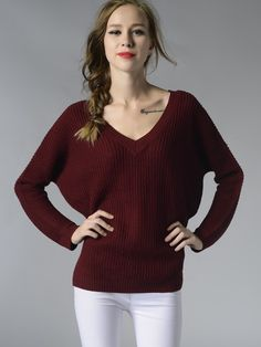 Sexy V-neck Women Backless Pullovers Knitwear Sweaters - OneBling