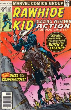 rawhide kid marvel comics | ... Time In The West In Comics: Tall Tales and a Short Story- Rawhide Kid